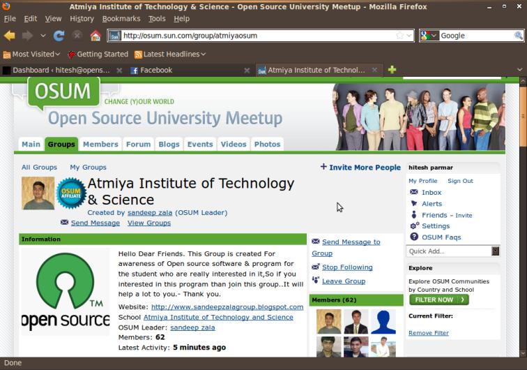 Screenshot-Atmiya Institute of Technology & Science - Open Source University Meetup -