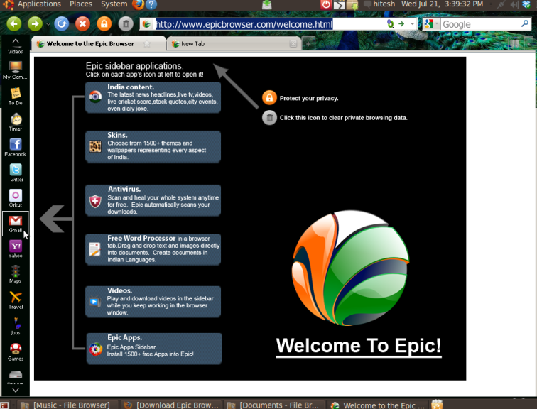 Screenshot-Welcome to the Epic Browser - Epic