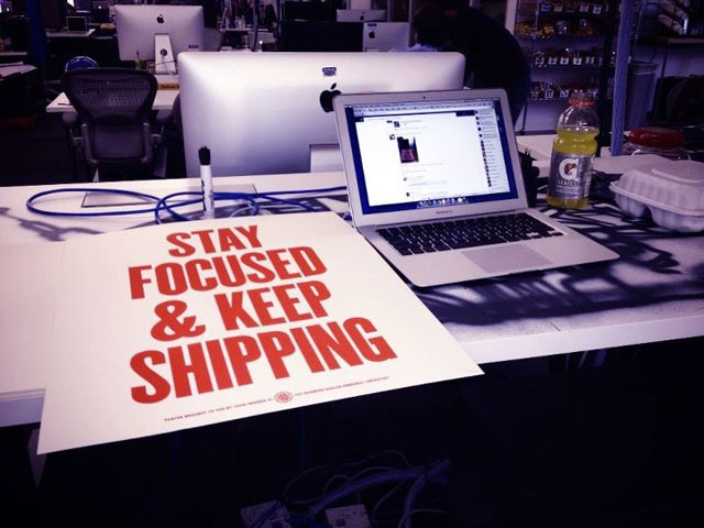 Stay focoused and keep shipping